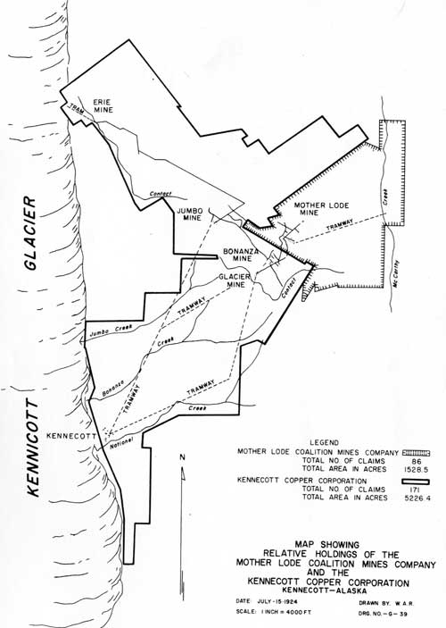 map of Kennecott claims
