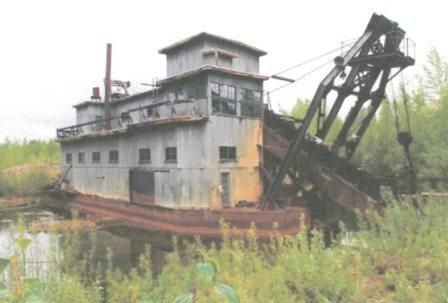 The Coal Creek Dredge as it appeared in 2005.