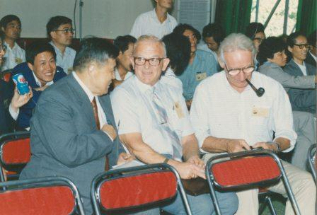 Donald Cook attending an exchange gathering in Taiwan.