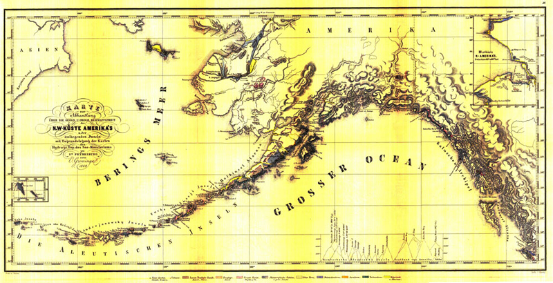 First geologic map of Alaska and the coast of NW North America