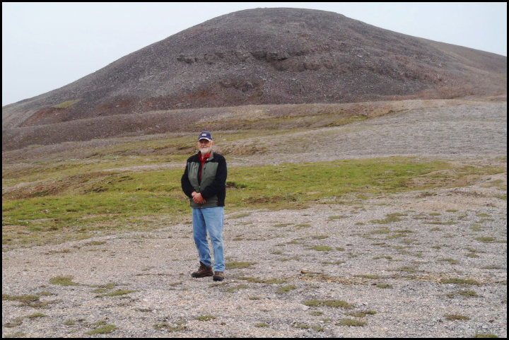 Don Grybeck at the Bessie Maple skarn prospect in the Lost River District on the Seward Peninsula, in the fall of 2011, about one year before his death.