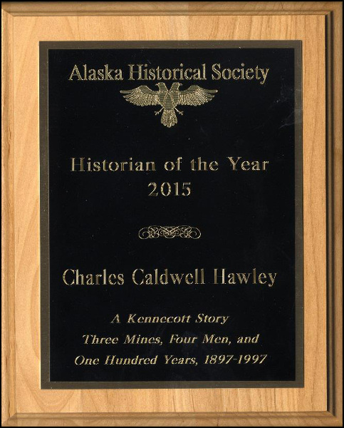 Hawley plaque from Alaska Historical Society