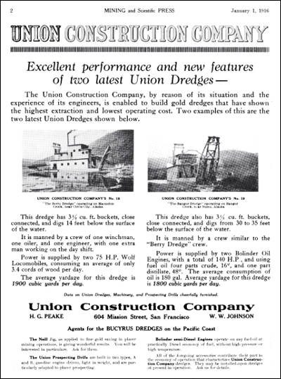 Ad forUnion Construction Company