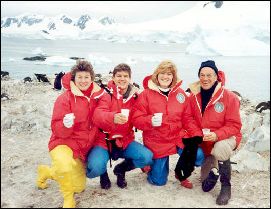 O'Neill family in Antarctica