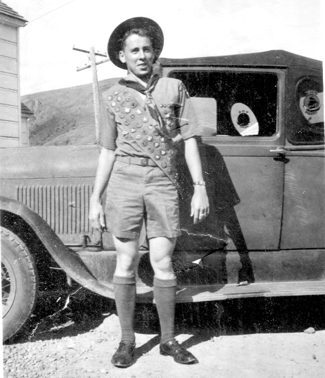 photo of Irv as a boy scout