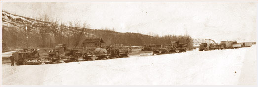 A Uotila cat train leaving Nenana.