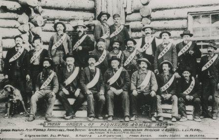 Photo of Jack McQuesten with the Yukon Order of Pioneers.
